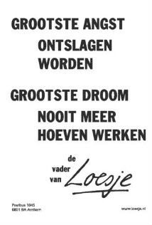 Verveling na je pensioen, Loesje, toekomt.nl
